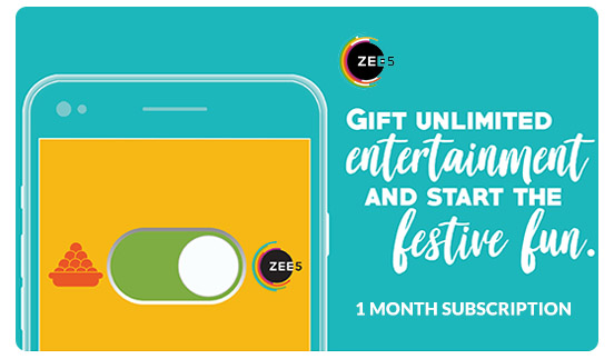 Zee5 E-Gift Card - Rs. 99 for 1 month subscription