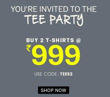 NNNOW TEE PARTY | Buy 2 T-Shirts at Rs.999