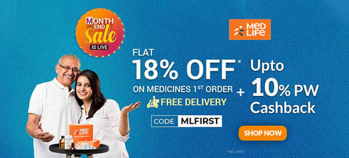 MONTH END SALE | Flat 18% Off on Your Medicines FIRST Order + FREE DELIVERY