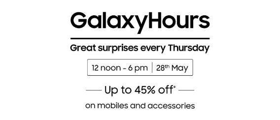 Galaxy Hours | Upto 45% Off on Mobiles & Accessories (12-6 PM)