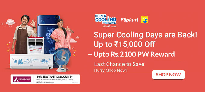 SUPER COOLING DAYS | Upto Rs.15000 Off on ACs, Refrigerators, Air Coolers & More + 10% Discount via AXIS Cards