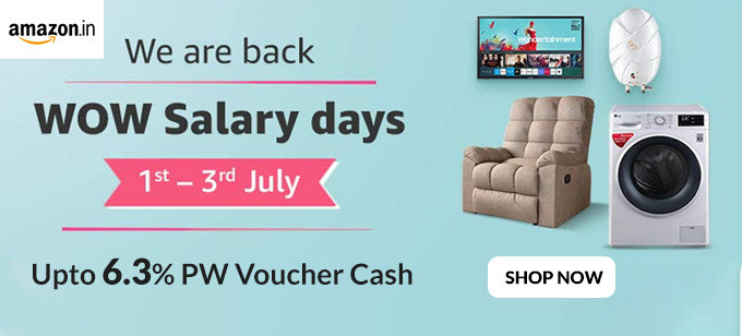 WOW SALARY DAYS | Upto 50% Off on Electronics, Home & Kitchen, Appliances & More