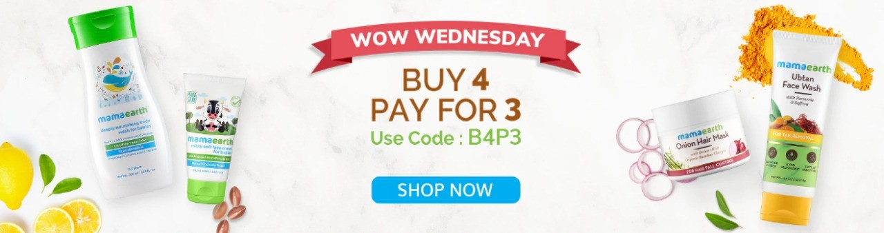 WOW WEDNESDAY | Buy 4 Pay for 3 Mamaearth Products