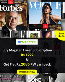 Buy Magzter 1 year subscription for Rs.1999 & Get Flat Rs.2085 PW Cashback