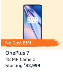 OnePlus 7 (Mirror Blue, 6GB RAM, Optic AMOLED Display, 128GB Storage, 3700mAH Battery)