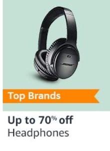 Upto 70% Off on Earphones, Headphones & More