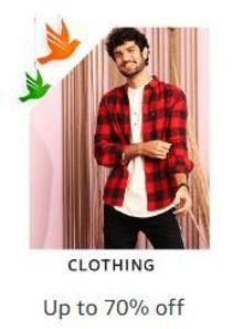 Upto 70% Off on Wide Range Of Men's Clothing