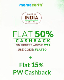 MADE IN INDIA FESTIVAL | Flat 50% Cashback on Orders of Rs 799 & above