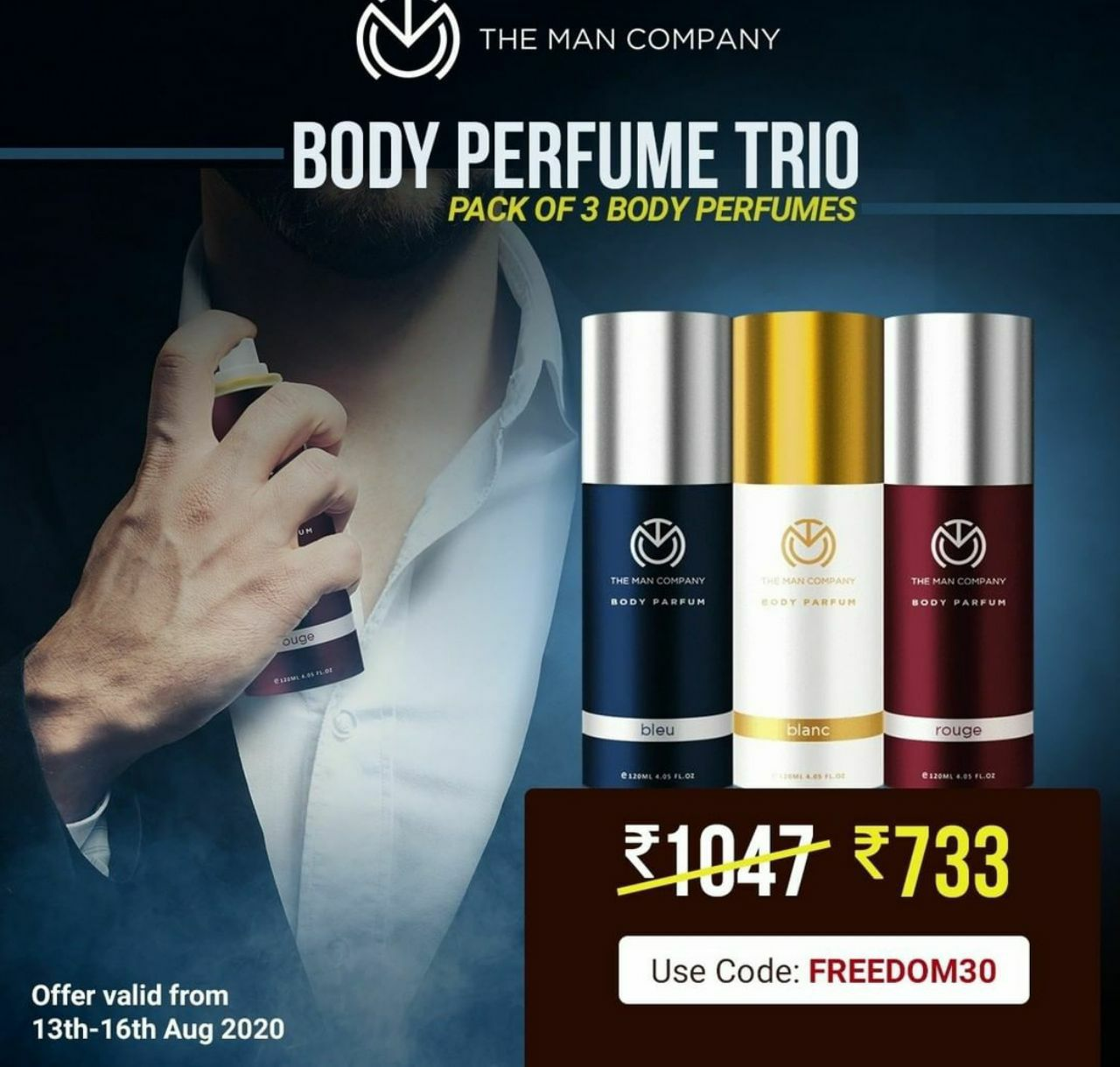 FREEDOM DEAL | The Man Company Body Perfume Combo at Rs.733