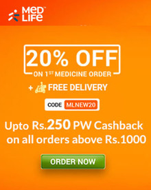 MONTH END SALE | Flat 20% Off + Free Delivery on First Medicines Purchase