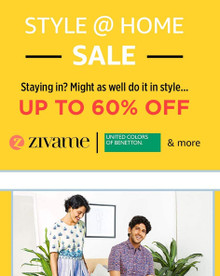 Style @ Home Sale | Up to 60% Off on UCB , Zivame & more