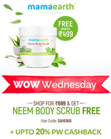 WOW WEDNESDAY | Shop for Rs.699 & Get Neem Body Scrub FREE Worth Rs.499