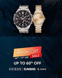 The Watchout Sale | Up to 60% Off