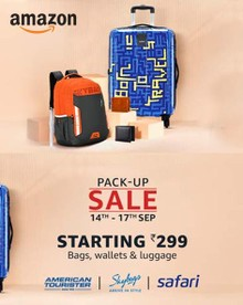 Pack Up Sale | Up to 60% Off on Trolley's, Bag packs & More