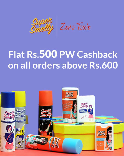 Flat Rs.500 PW Cashback + Extra 20% Off on Orders of Rs.800 Above