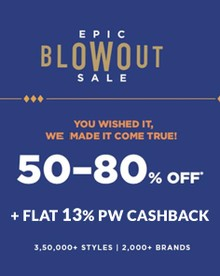 AJIO EPIC BLOWOUT SALE   Flat 50%-80% Off on 3Lakh+ Fashion Styles