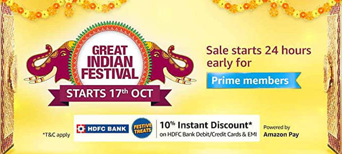 Amazon Great Indian Festival Offers 2020