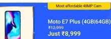 Motorola E7 Plus at Rs.9999
