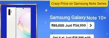 Samsung Galaxy Note 10+ at Rs.54999