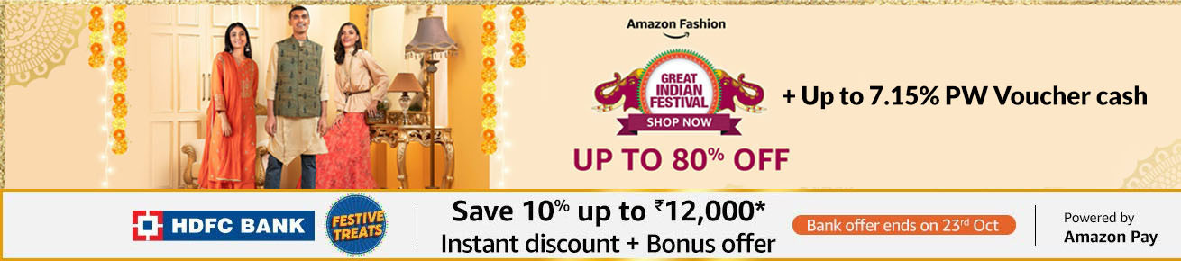 Amazon Great Indian Festival Sale Offers on Men's Clothing - October 17th