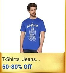 Get Minimum 60-80% Off on Men T-shirts, Jeans & more