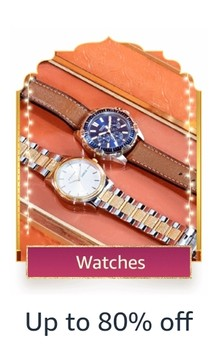 GREAT INDIAN FESTIVAL | Upto 80% Off On Men's Watches + Extra 10% Axis / Citibank / IndusInd/ Amazon Pay ICICI Cards Off