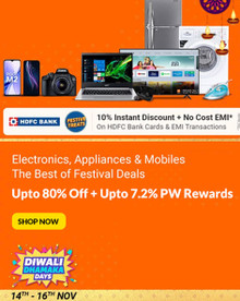 DIWALI DHAMAKA DAYS | Upto 80% Off on Mobiles, Electronics & More