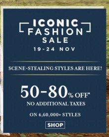 ICONIC SALE | 50-80% Off on 4,60,000+ Styles