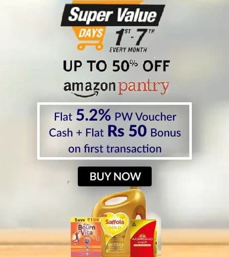 SUPER VALUE DAYS | Upto 50% Off On Grocery Products + Extra 5% ICICI Bank Cards Discount