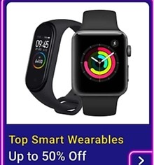 Get up to 50% Off on Smartwatches and Fitness Bands