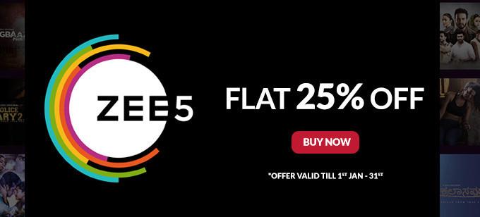 Flat 25% off on Zee5 Gift Card