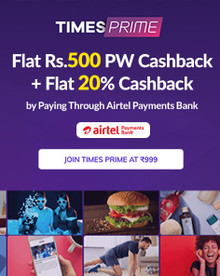 TimesPrime Airtel Payments Offer| Flat 40% Off + Flat 20% Cashback by Paying Through Airtel Payments Bank
