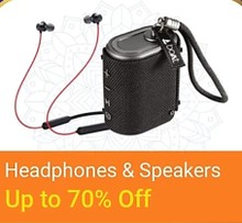 Get up to 70% Off on Bluetooth Speakers