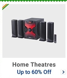 Get up to 60% Off on Home Theatres