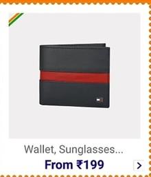 Upto 90% Off on Men's Wallets & Sunglasses