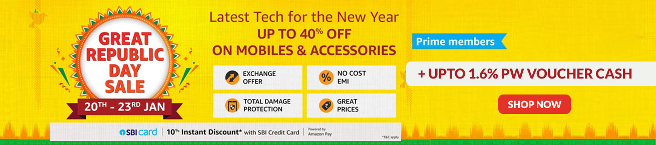 Amazon Republic Day Sale Offers on Mobile and Accessories - Upcoming