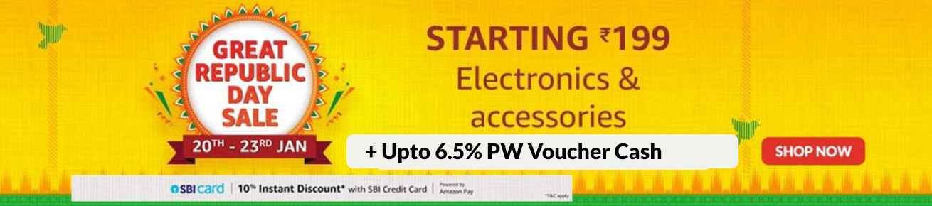 Amazon Republic Day Sale Offers on Electronics - October 17th