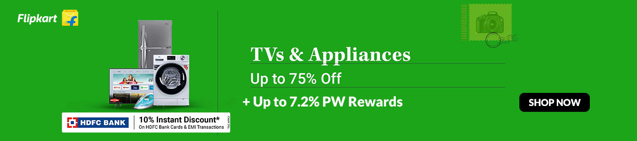 Flipkart Republic Day Sale on TVs and Appliances (January 2021)