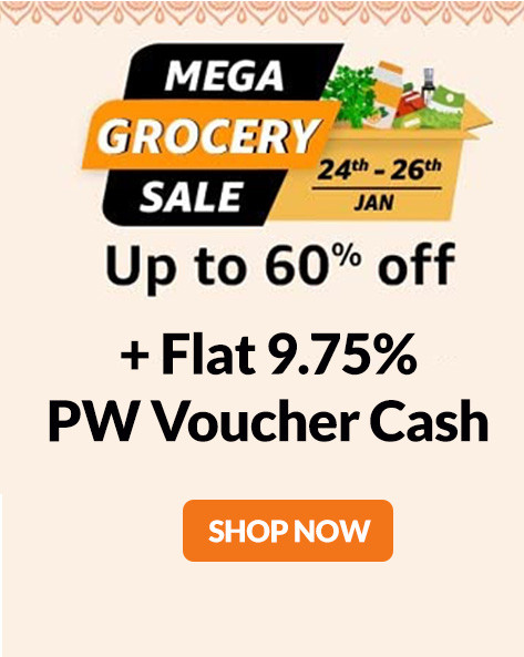 MEGA GROCERY SALE | Upto 60% Off + Get Rs.200 Cashback (24th-26th Jan)