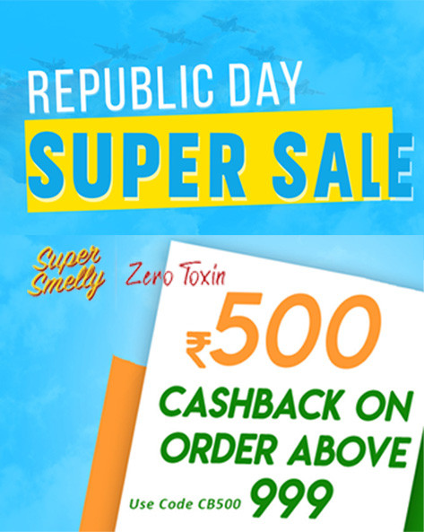 REPUBLIC DAY SUPER SALE | Flat Rs.500 Cashback on Orders Rs.999 Above