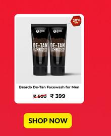 Beardo De-Tan Facewash for Men (2 x 100ml)