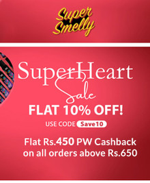 SUPER HEART SALE | Flat Rs.450 PW Cashback + Extra 10% Off on Min. Order Rs.650 Above