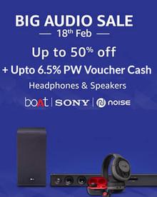 Big Audio Sale | Get up to 50% Off on Headphones & Speakers