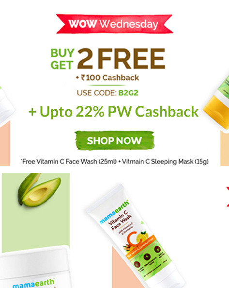 WOW WEDNESDAY SALE | Buy 2 Get 2 FREE + Rs 100 Cashback