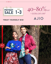 Pay Day Sale | Flat 40-80% Off + Extra 20% Off