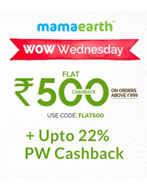 WOW WEDNESDAY SALE | Flat 500 Cashback on orders of Rs 999 & above
