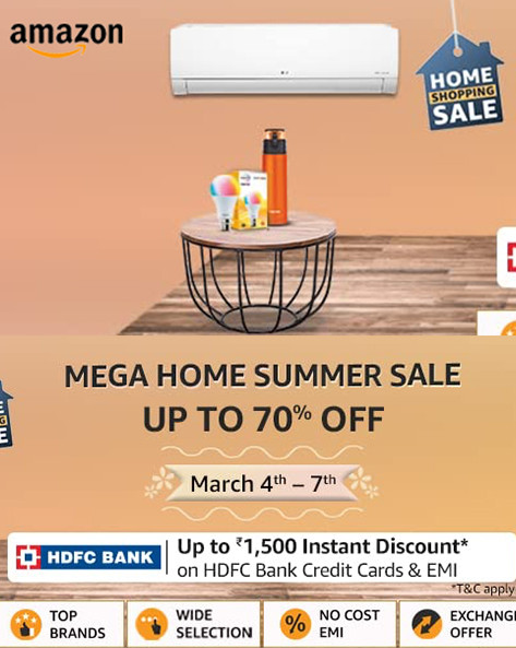 Mega Home Summer Sale | Up to 60% Off on Home & Kitchen, Appliances & More