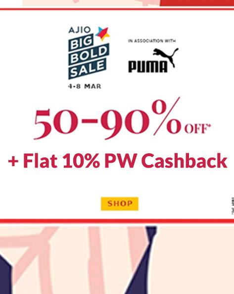 AJIO BIG BOLD SALE | 50-90% Off on 5,00,000 + Styles