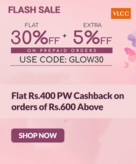 VLCC SUNDAY FUNDAY | Flat 30% Off + Extra 5% Off on Prepaid Orders