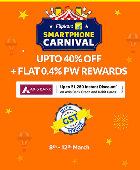 Smartphone Carnival | Up to Rs.16,000 Off + Extra 10% Axis Off + No Cost EMI & Exchange